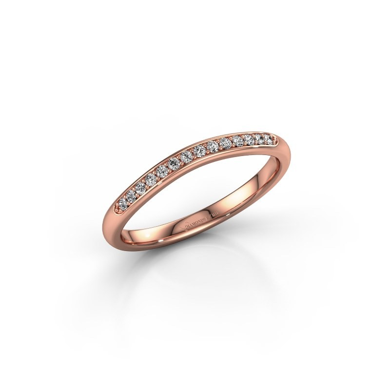 Stackable ring SR20A4H 375 rose gold diamond 0.113 crt