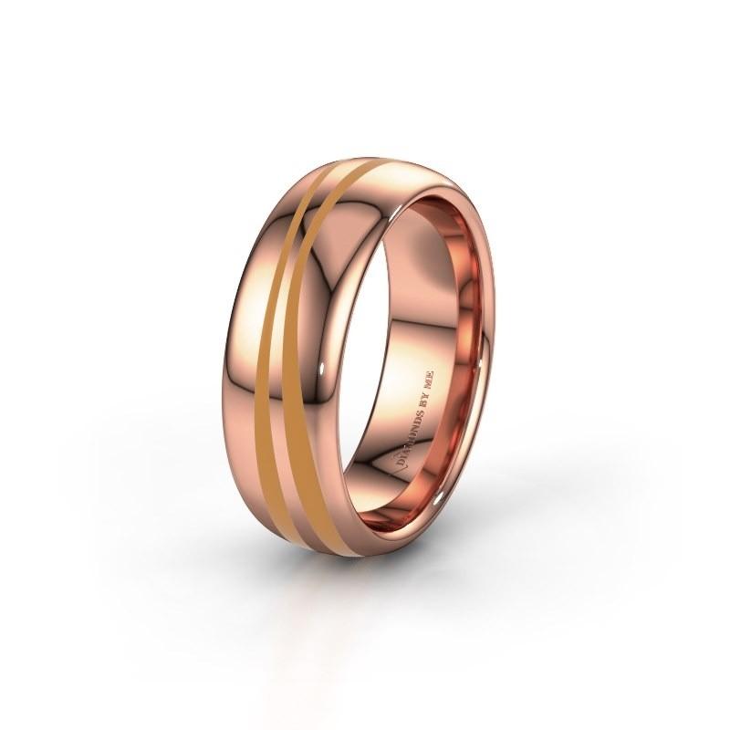 Weddings ring WH2226M36BP 585 rose gold ±7x2 mm