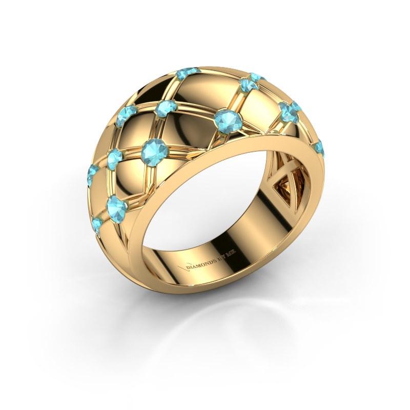 Ring Imke 585 gold blue topaz 2.5 mm