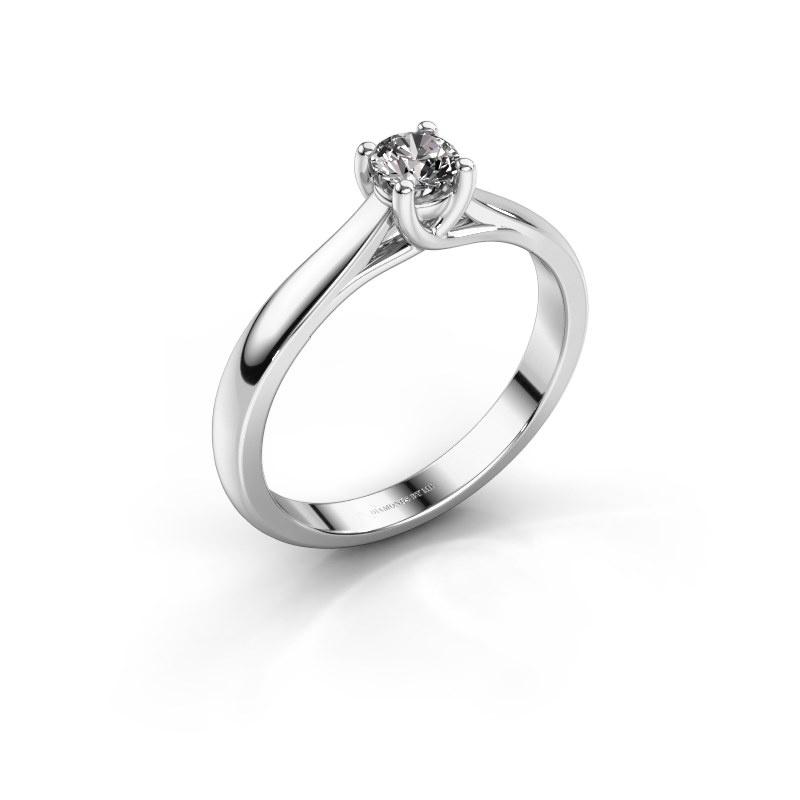 Bague de fiançailles Mia 1 585 or blanc diamant synthétique 0.25 crt