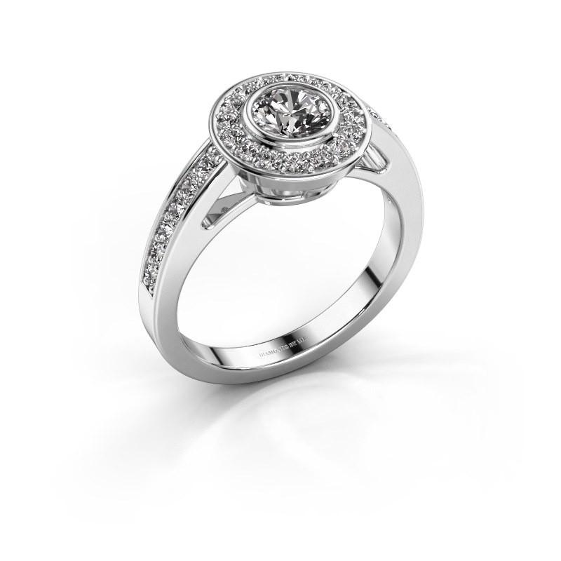 Engagement ring Raven 1 585 white gold diamond 0.932 crt