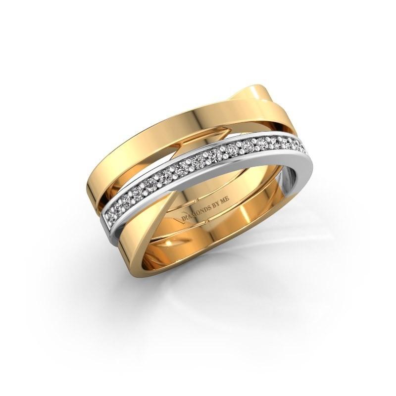 Ring Yolando 585 goud lab-grown diamant 0.16 crt