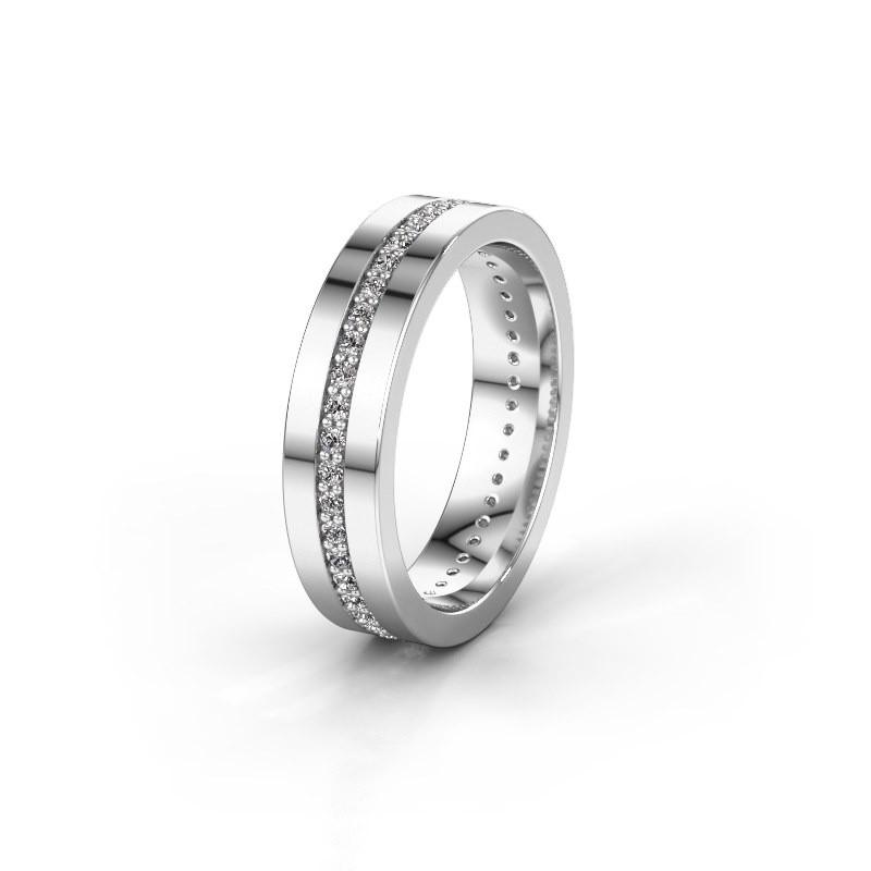 Trouwring WH0103L15BP 585 witgoud diamant 0.44 crt ±5x2 mm