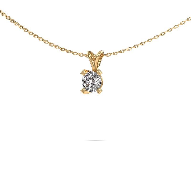 Solitaire Modern Gold Diamonds Set Pendant Eva Design Yourself