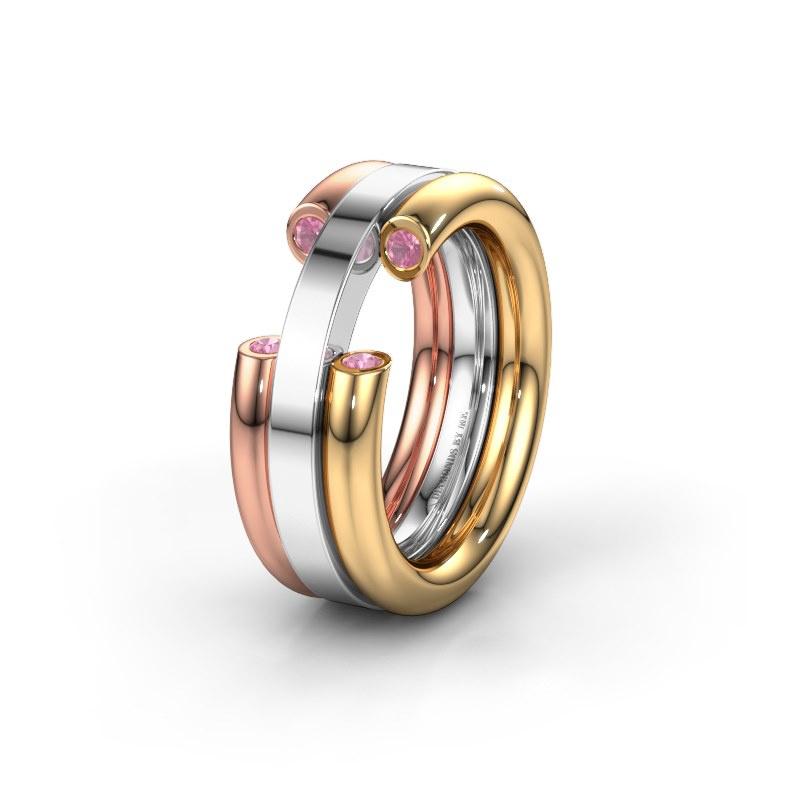 Ehering WH6018L 585 Gold Pink Saphir ±8x3 mm
