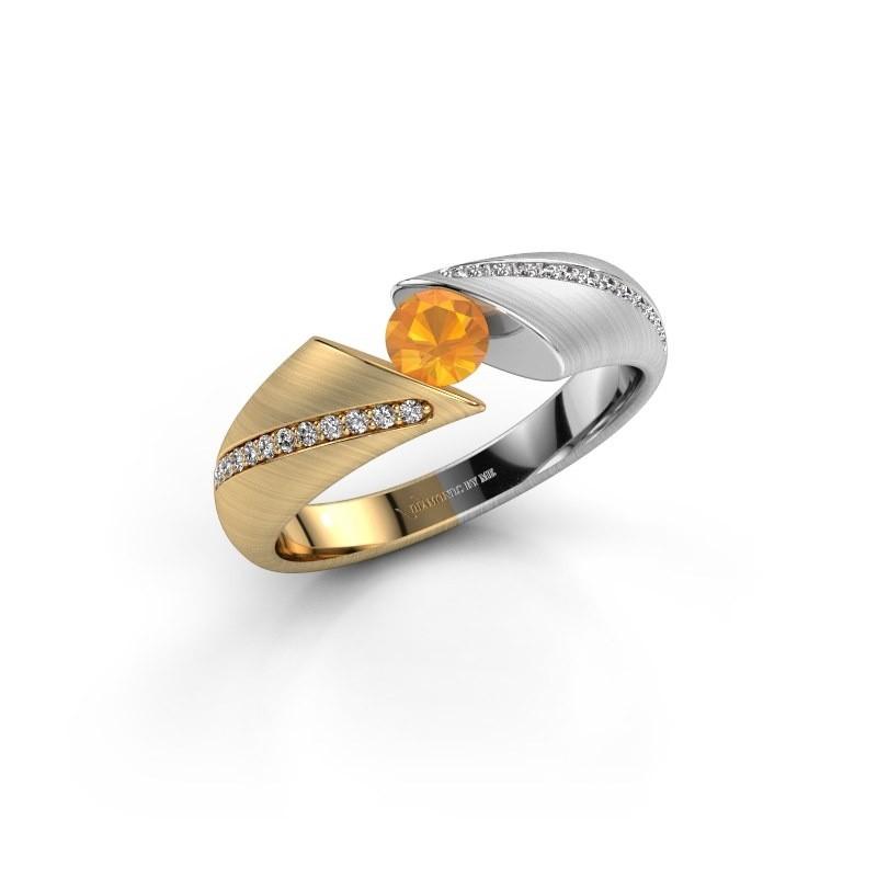 Verlovingsring Hojalien 2 585 goud citrien 4.2 mm