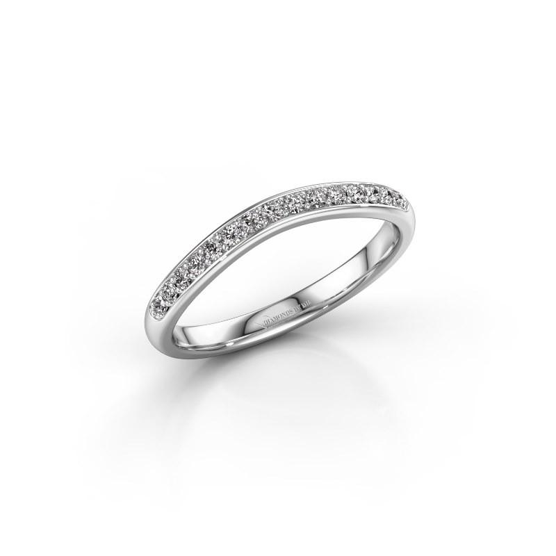 Stackable ring SR20A6H 950 platinum diamond 0.168 crt