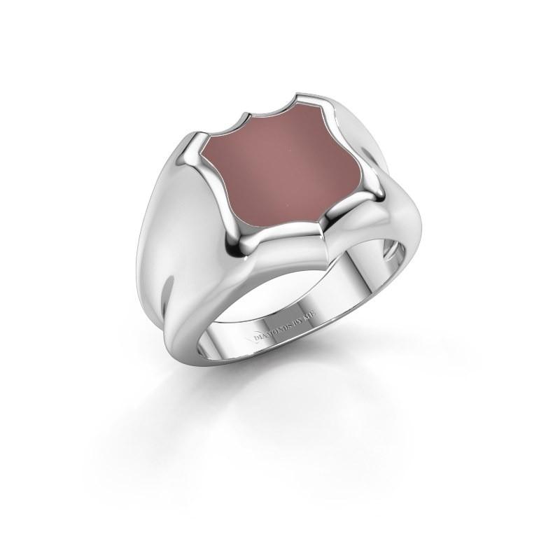 Signet ring Nevin 925 silver carnelian 12x12 mm