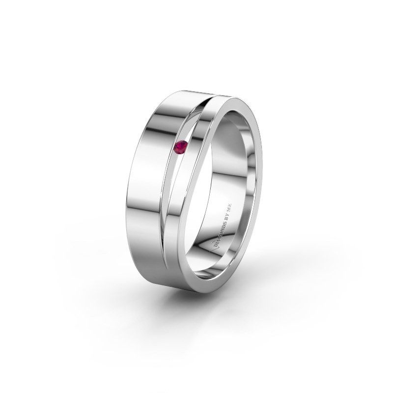 Wedding ring WH6000L16AP 950 platinum rhodolite ±0.24x0.07 in