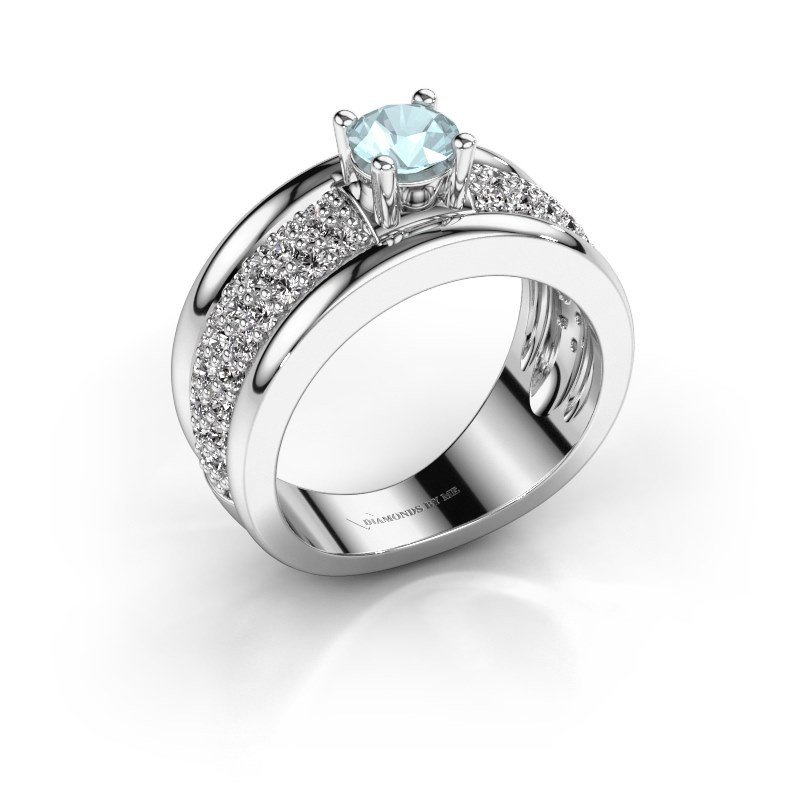 Ring Alicia 925 Silber Aquamarin 5 mm