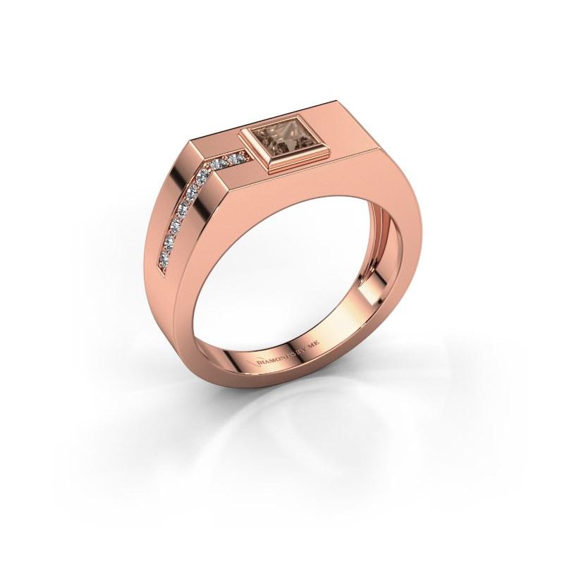 Herrenring Robertus 1 585 Roségold Braun Diamant 0.496 crt