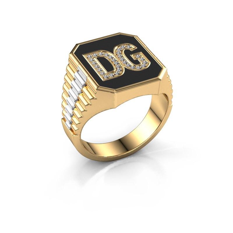 Rolex stijl ring Stephan 3 585 goud lab-grown diamant 0.005 crt