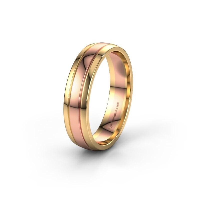Trouwring WH0422M25X 585 rosé goud ±5x1.5 mm