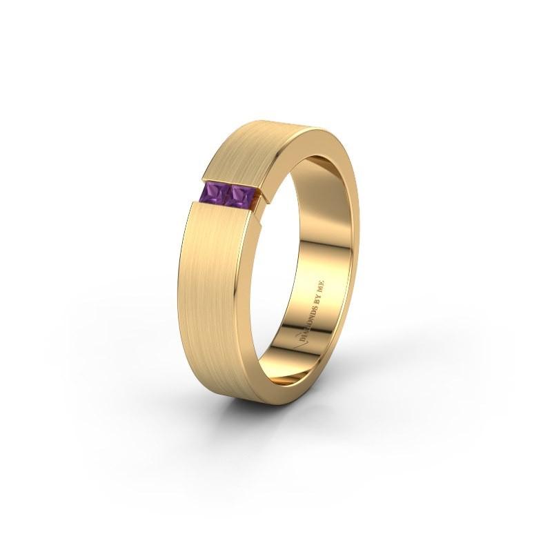 Wedding ring WH2136L15E 375 gold amethyst ±5x2.6 mm