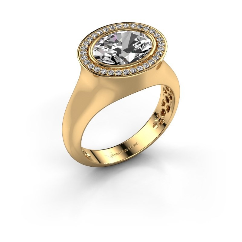 Ring Phebe 585 gold zirconia 10x8 mm
