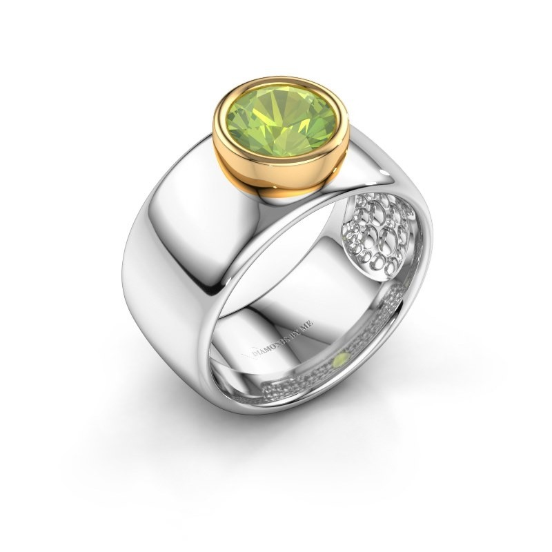 Ring Klarinda 585 white gold peridot 7 mm