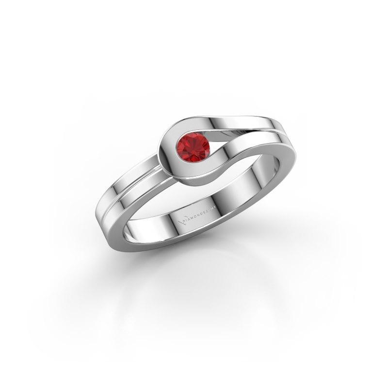 Ring Kiki 925 Silber Rubin 3 mm
