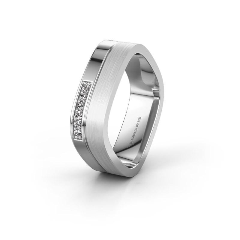 Wedding ring WH6030L16A 925 silver lab-grown diamond ±6x1.7 mm