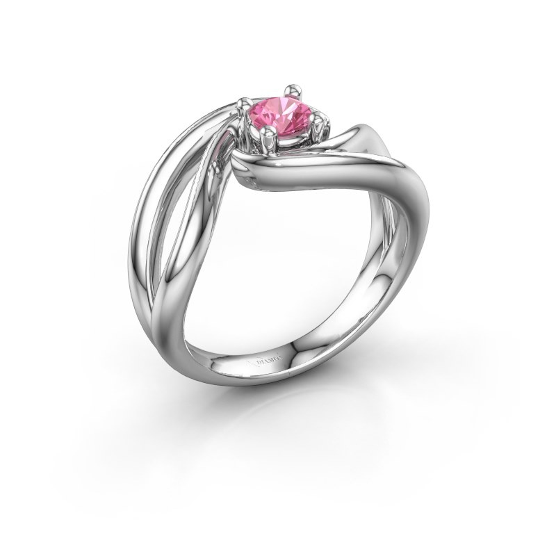 Ring Kyra 925 silver pink sapphire 4 mm