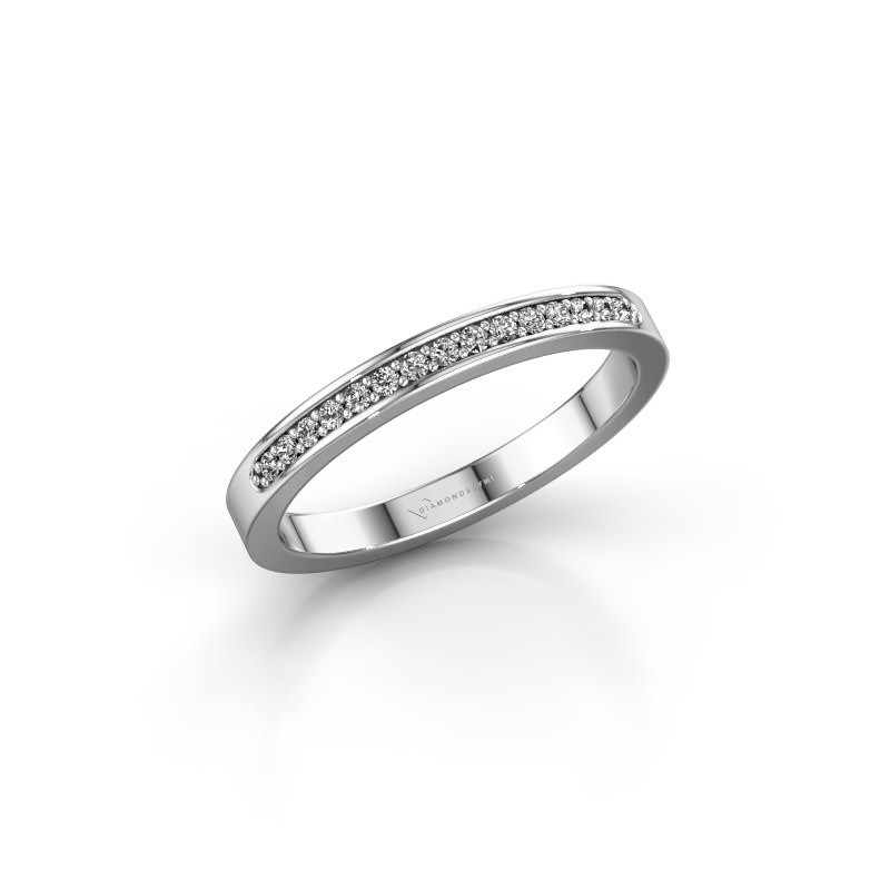 Aanschuifring SRJ0005B20H4 585 witgoud diamant 0.113 crt