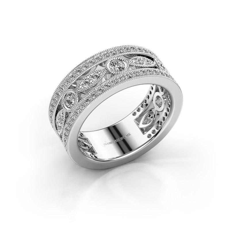 Ring Jessica 585 witgoud zirkonia 2.5 mm