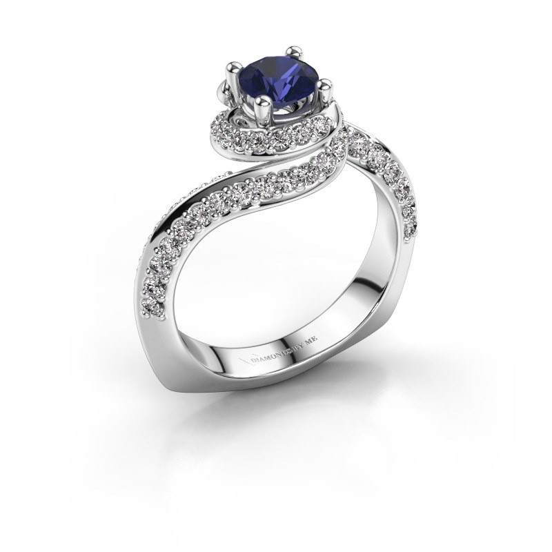 Engagement ring Sienna 585 white gold sapphire 5 mm