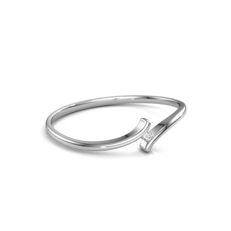 Bangle Amy 950 platinum diamond 0.30 crt