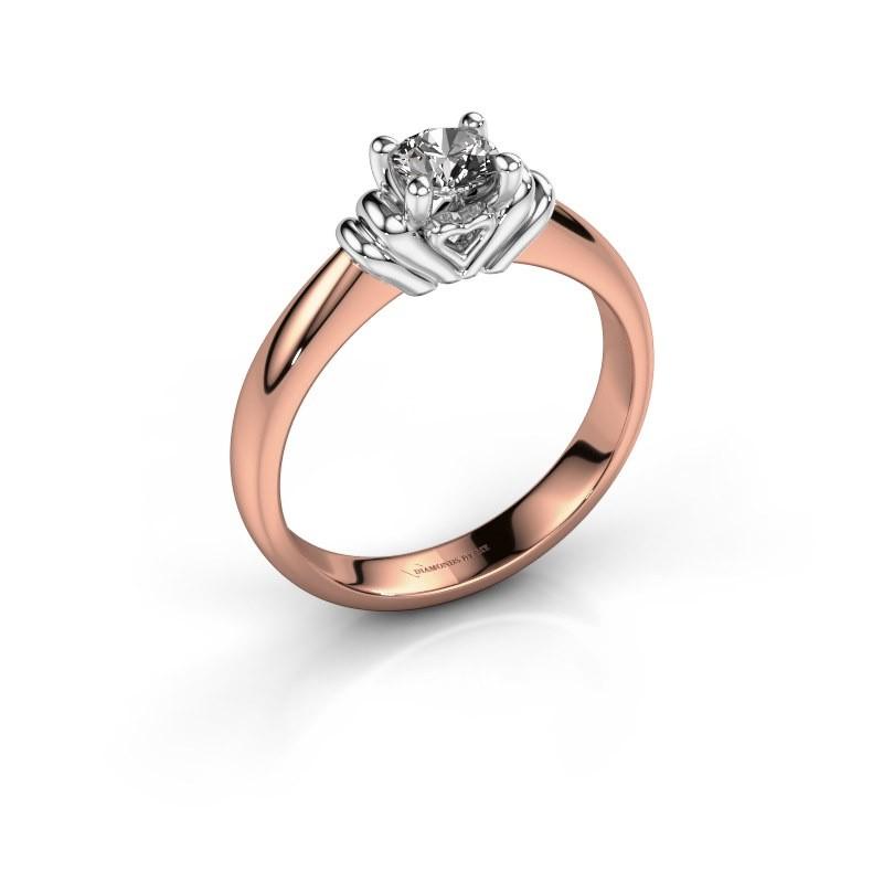 Verlovingsring Esmeralde 585 rosé goud diamant 0.40 crt