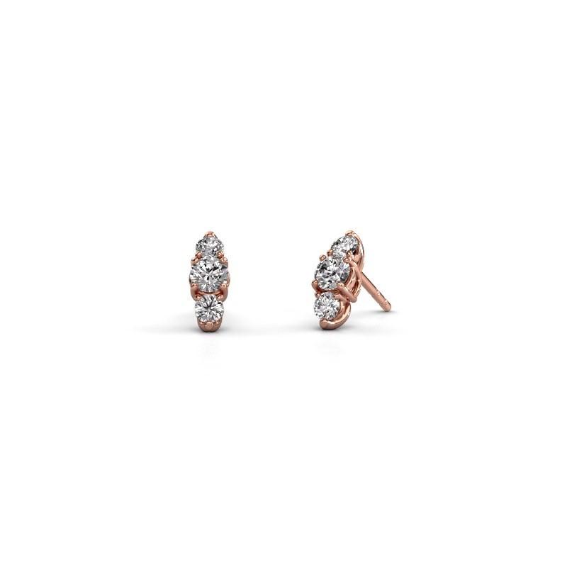 Oorbellen Amie 375 rosé goud lab-grown diamant 0.90 crt