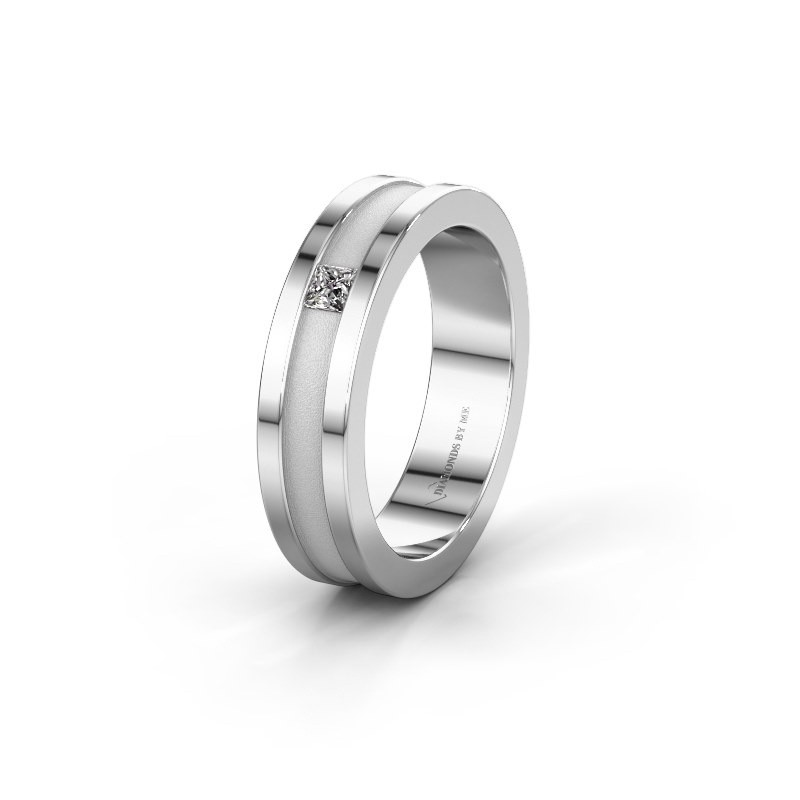 Trouwring WH2001L 375 witgoud diamant ±5x2 mm