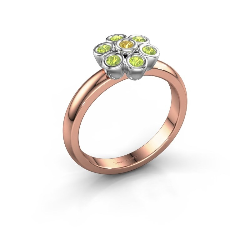Ring Aaliyah 585 rose gold yellow sapphire 2 mm