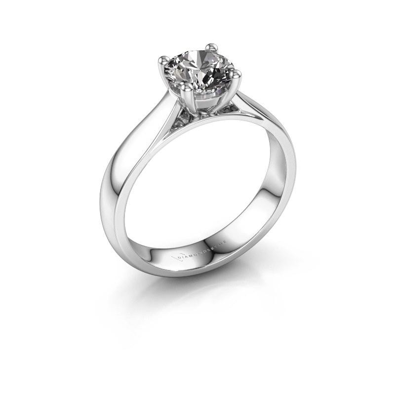 Bague de fiançailles Sam 950 platine diamant 1.00 crt