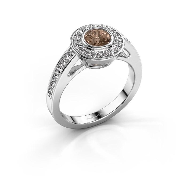 Verlovingsring Raven 1 585 witgoud bruine diamant 0.932 crt