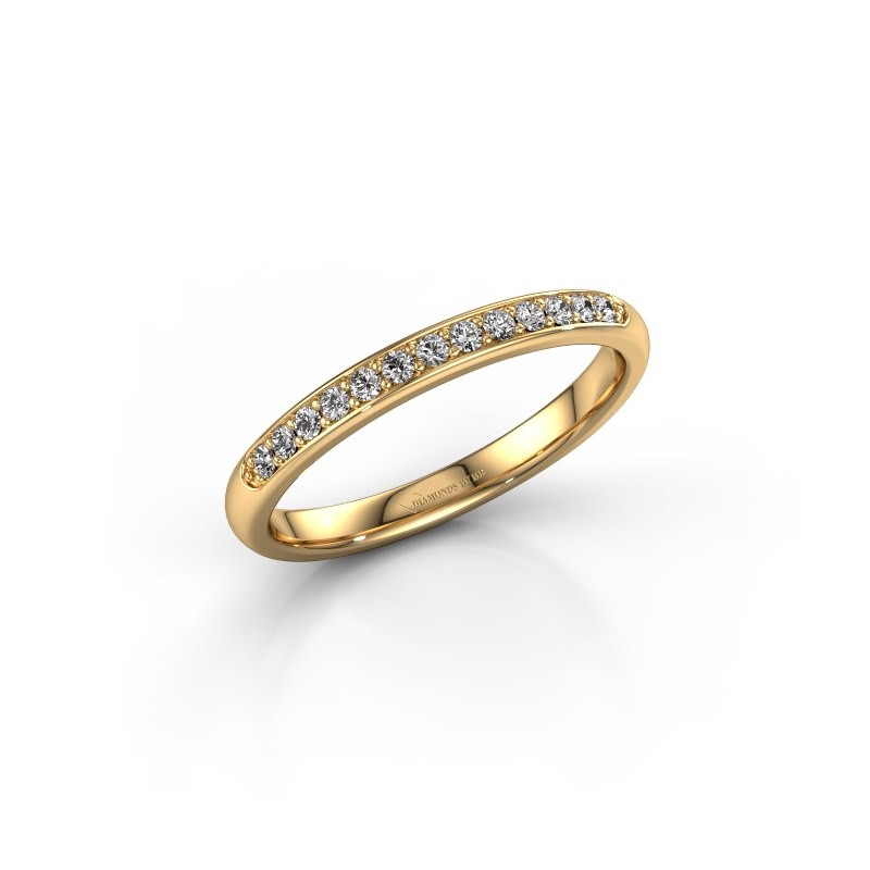 Stackable ring SR20B6H 375 gold diamond 0.168 crt