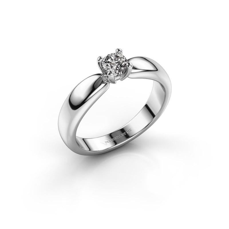 Promise ring Katrijn 585 witgoud zirkonia 4.2 mm