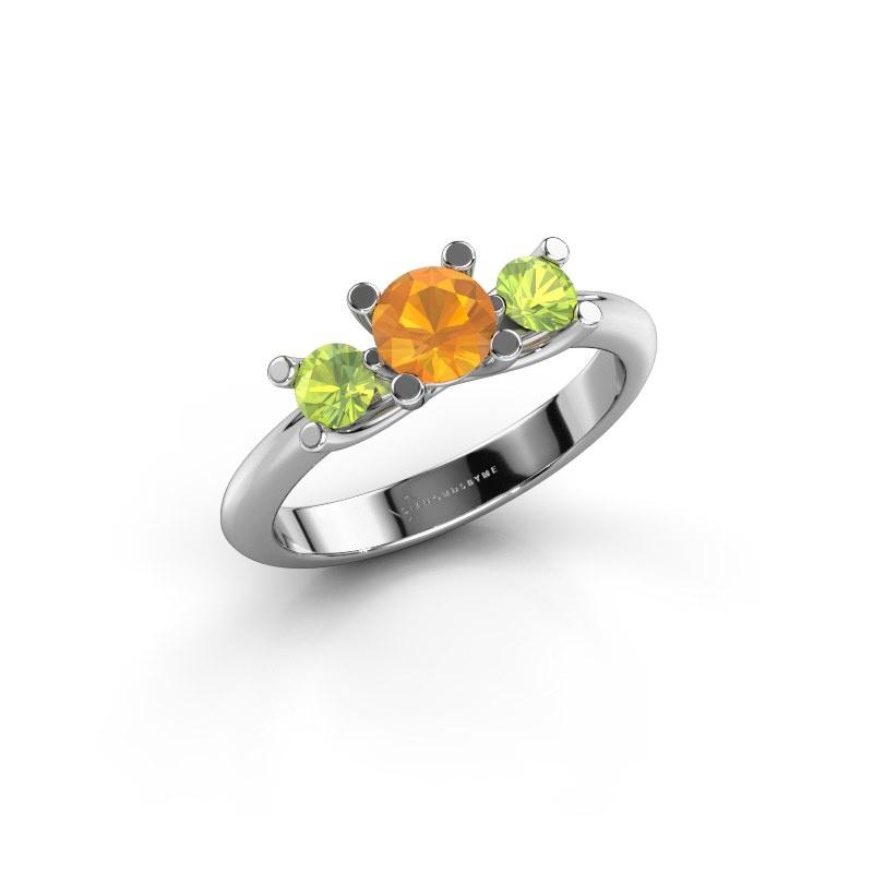 Ring Mirthe 585 white gold citrin 5 mm