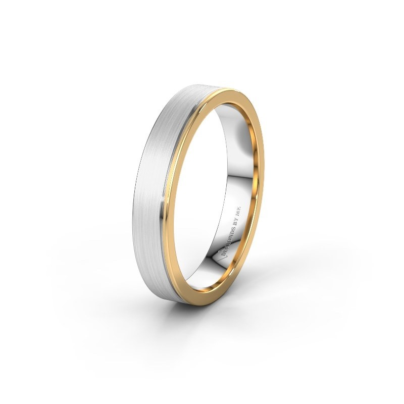 Wedding ring WH0500M14AM 585 white gold ±4x1.7 mm