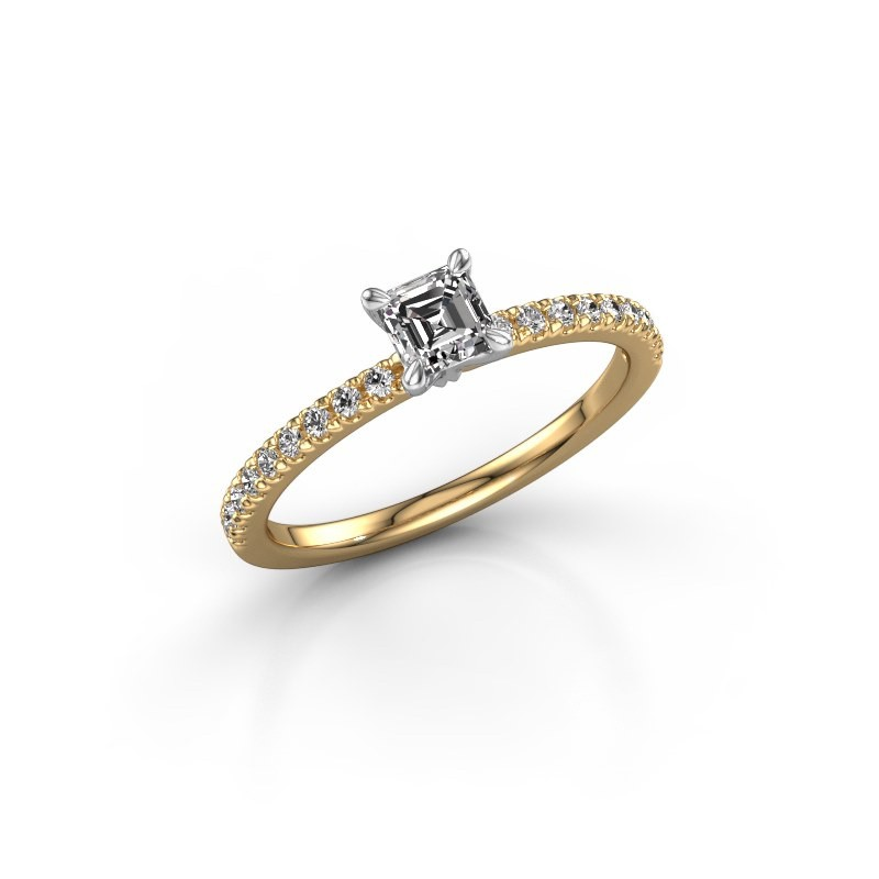 Verlobungsring Crystal ASS 2 585 Gold Lab-grown Diamant 0.680 crt
