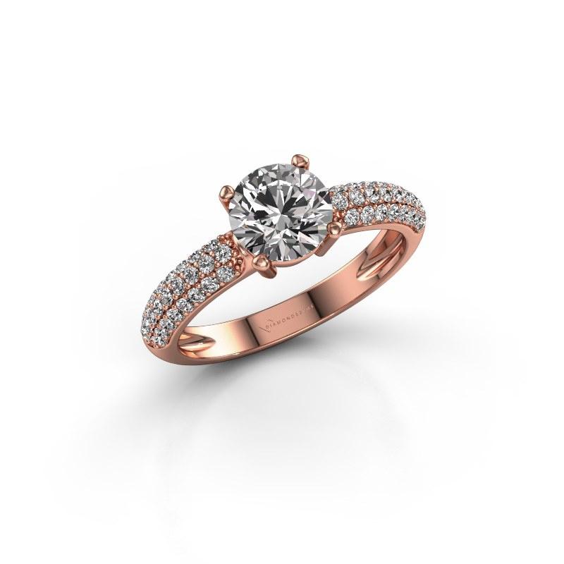 Verlobungsring Marjan 585 Roségold Diamant 1.369 crt
