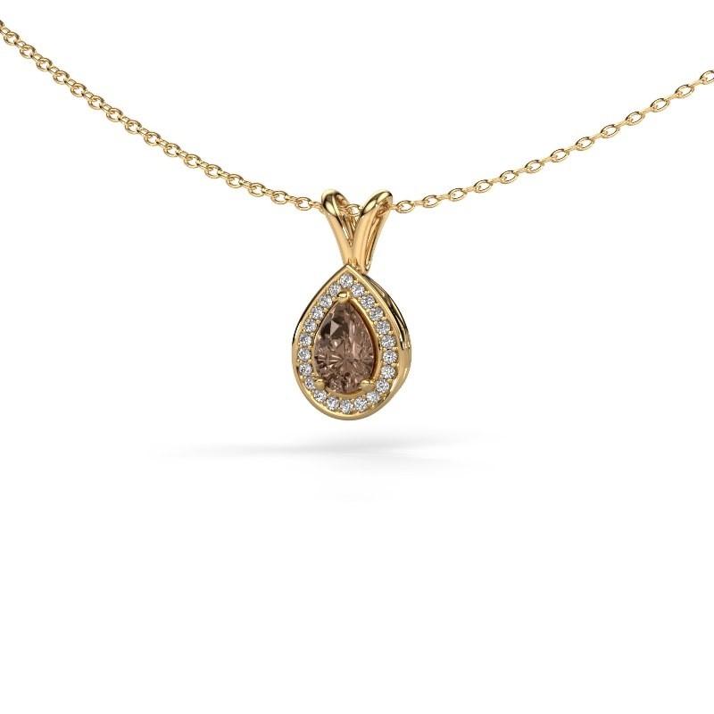 Ketting Ginger 375 goud bruine diamant 0.505 crt