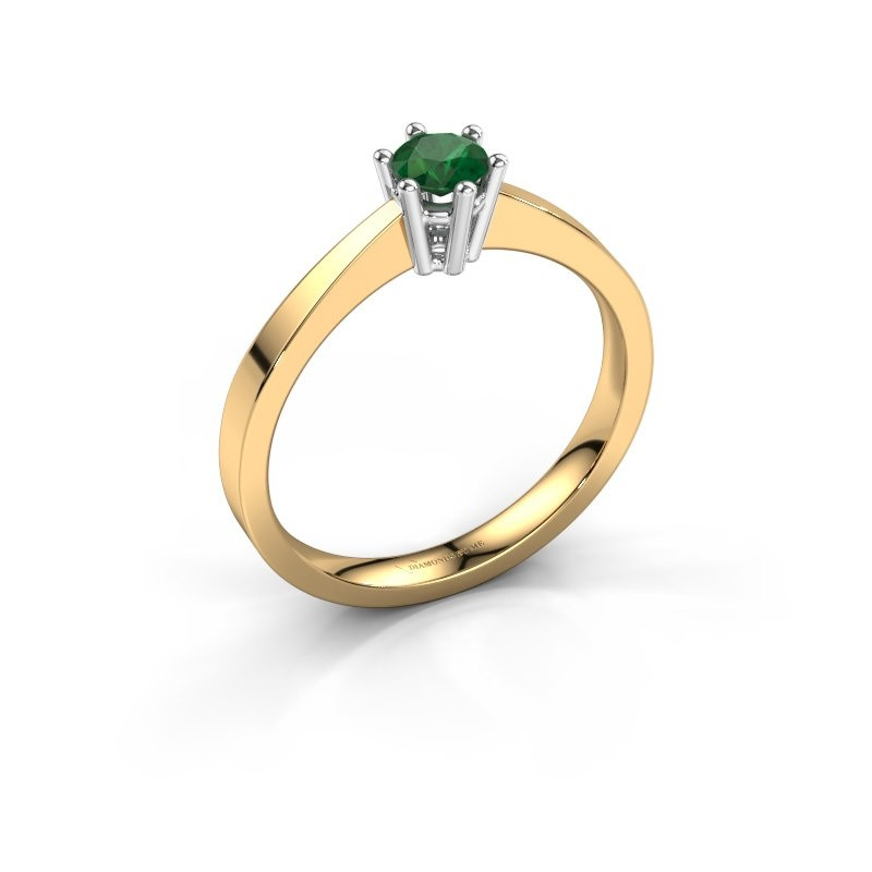 Verlobungsring Noortje 585 Gold Smaragd 4 mm