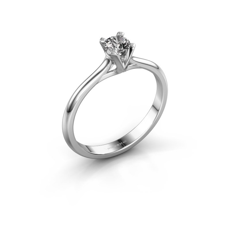 Verlobungsring Isa 1 585 Weißgold Diamant 0.25 crt