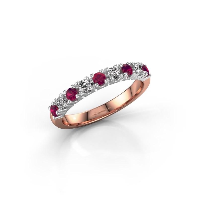 Engagement ring Rianne 9 585 rose gold rhodolite 2.4 mm