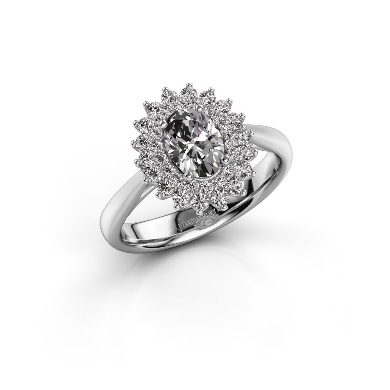 Verlovingsring Alina 1 585 witgoud diamant 1.259 crt