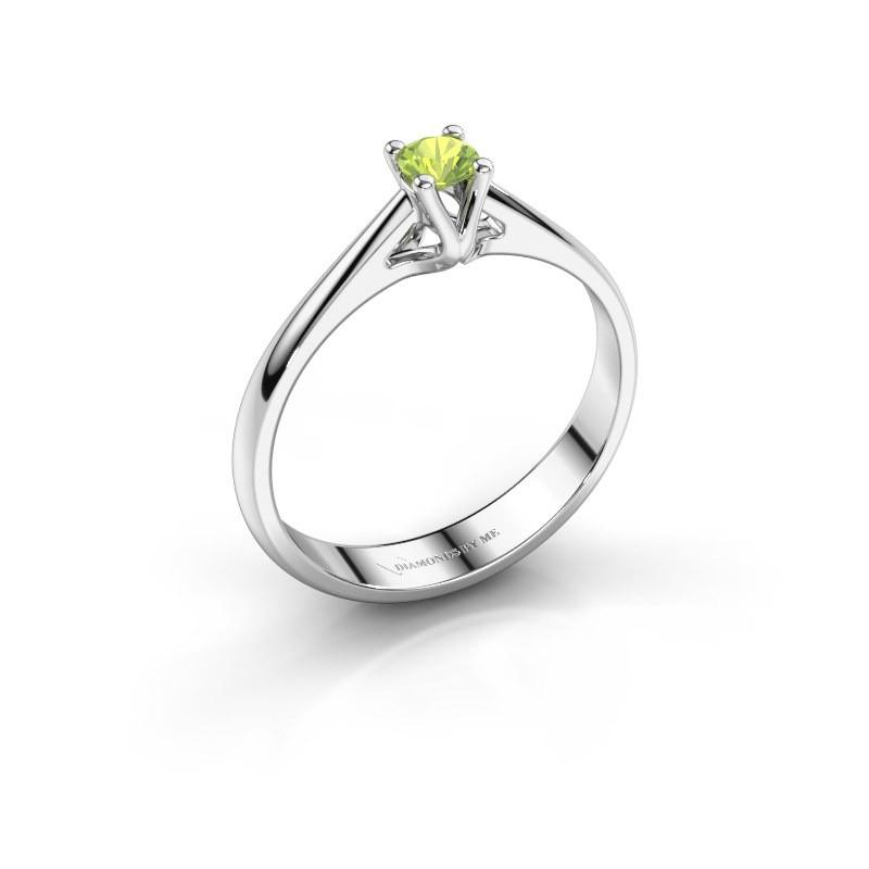 Engagement ring Janna 1 950 platinum peridot 3.4 mm