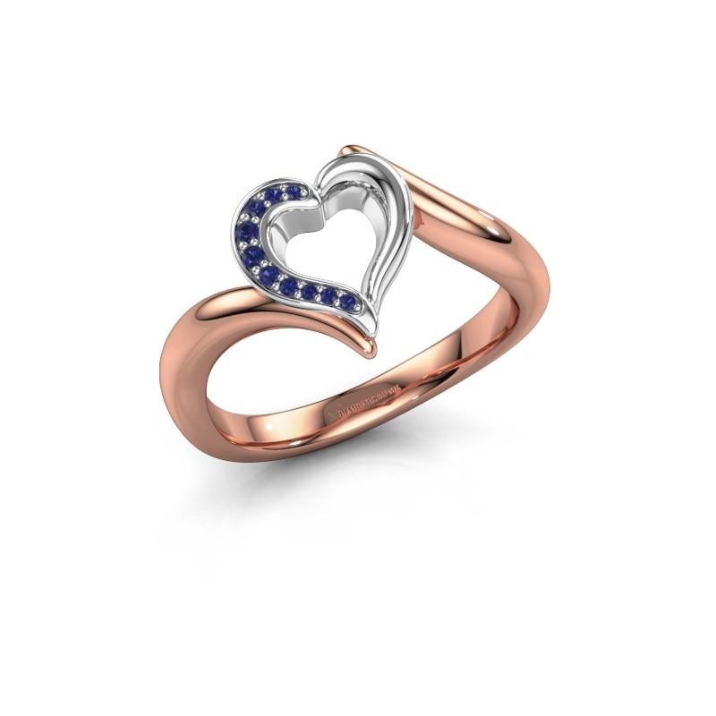 Ring Katlyn 585 rosé goud saffier 0.8 mm