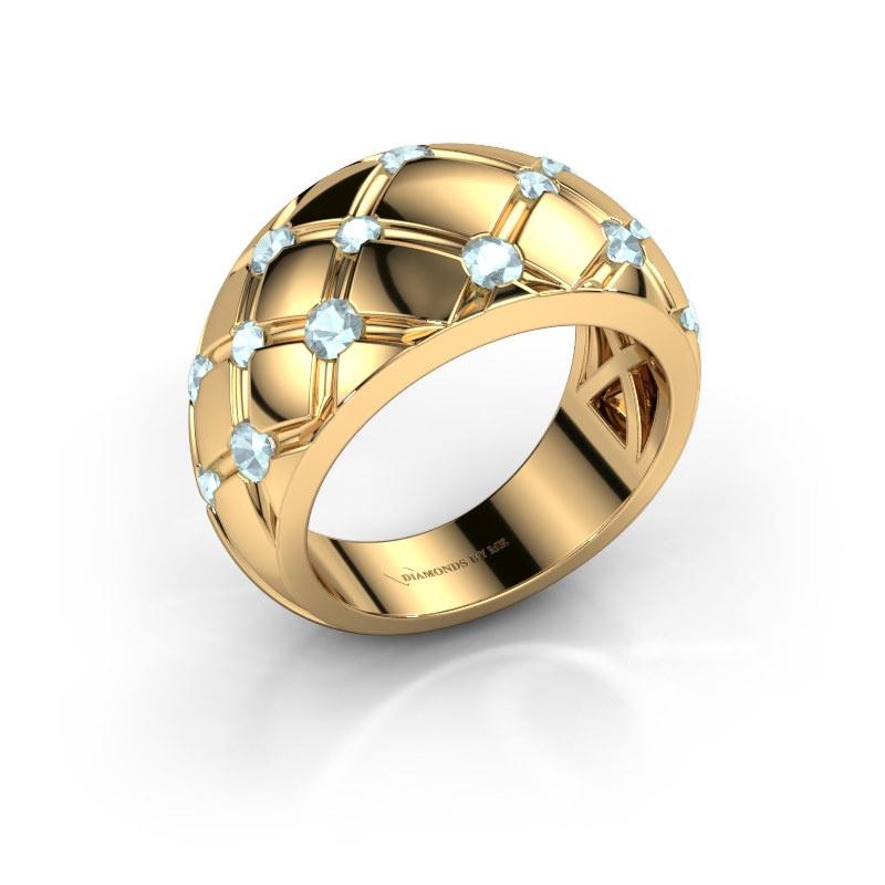 Ring Imke 585 gold aquamarine 2.5 mm