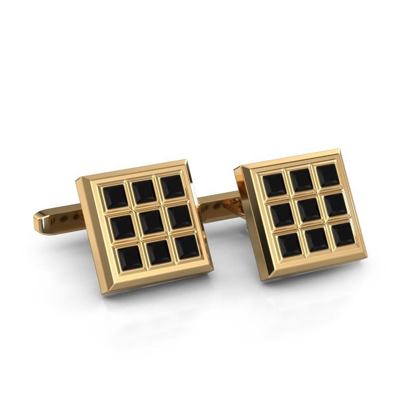 Cufflinks Clen 375 gold black diamond 3.67 crt