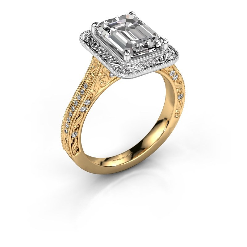 Verlovings ring Alice EME 585 goud diamant 1.255 crt