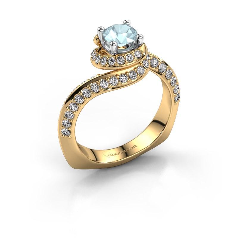 Engagement ring Sienna 585 gold aquamarine 5 mm